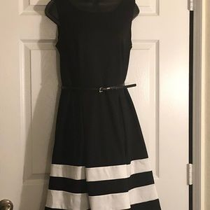 Liz Claiborne Belted Dress (with A-Line Skirt)